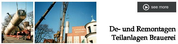 De- und Remontagen Teilanlagen Brauerei
